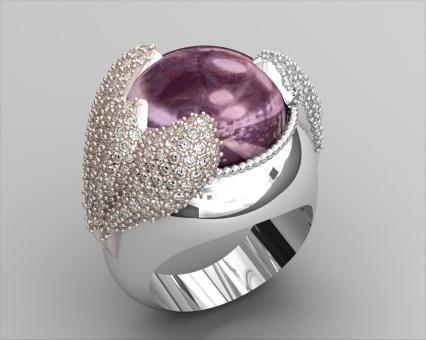 Cabochon Designer Ring